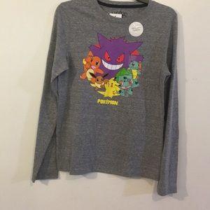 Pokémon Long Sleeve t-Shirt NWT Sz XL Back2School